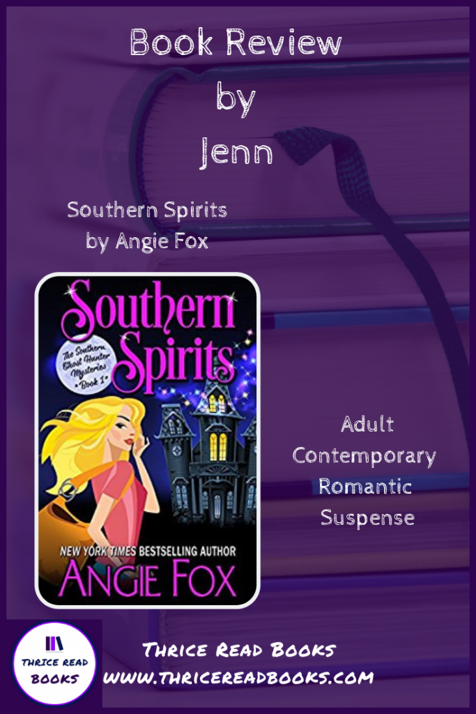 Pinnable image for Southern Spirits review on the  Thrice Read Books blog