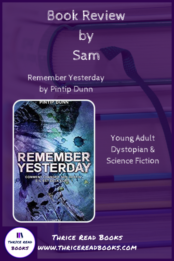 Pinterest image for review blog - Remember Yesterday
