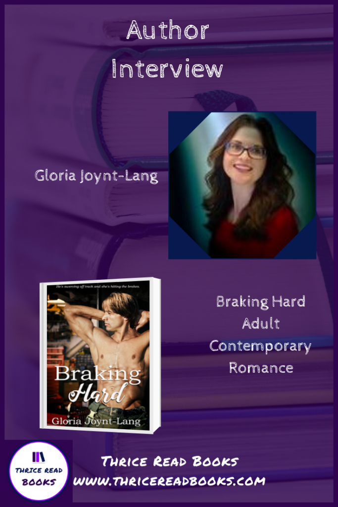 Jenn interviews contemporary romance author Gloria Joynt-Lang for the release of her newest novel, Braking Hard