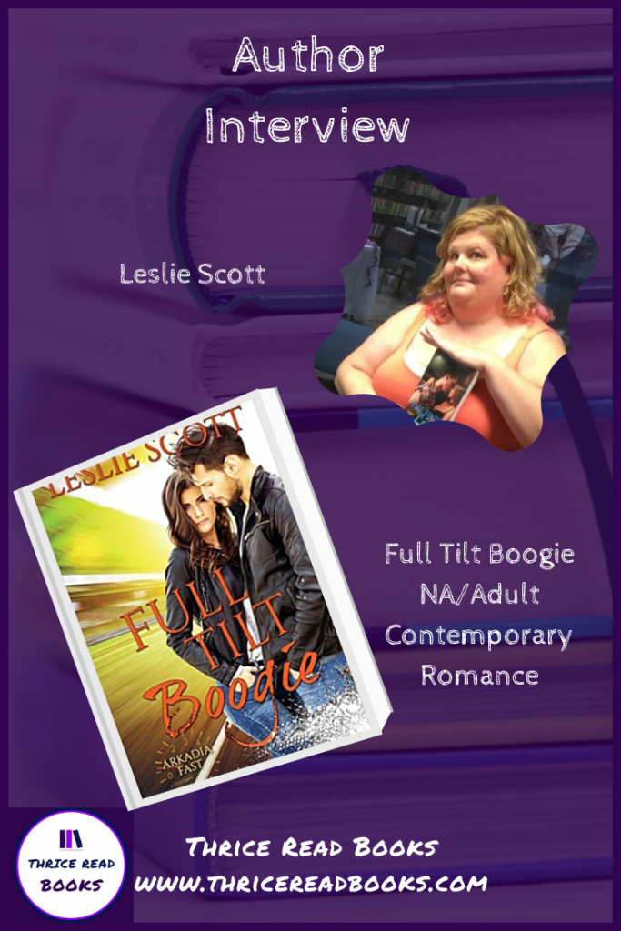 TRB Pinnable graphic for 2020 interview with contemporary romance author Leslie Scott
